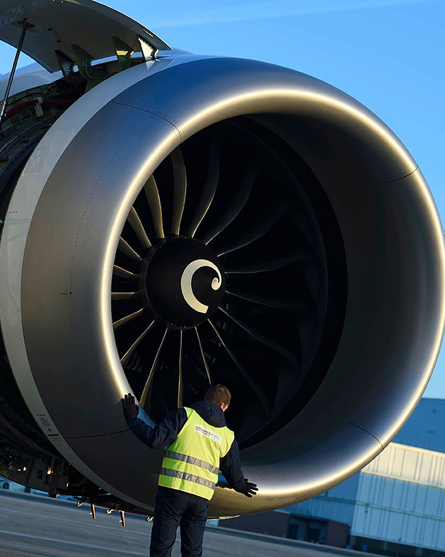 Visual inspection of a nacelle
