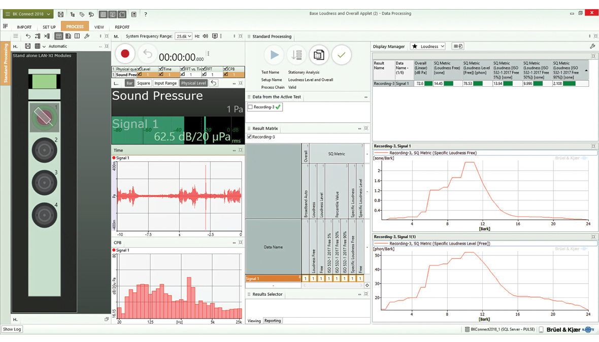 BK Connect Loudness and Overall Analysis Applet – Brüel & Kjær Sound