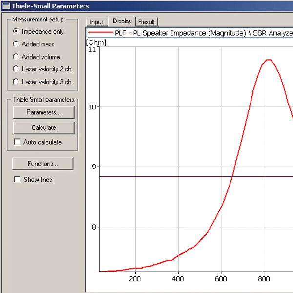 BZ-5604 PULSE Thiele/Small parameters calculation software