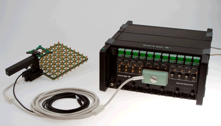 Handheld array used with single signal cable with LAN-XI front-end