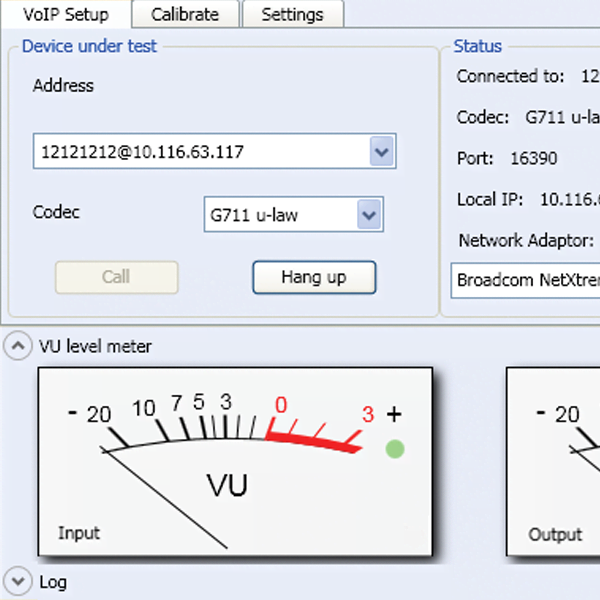 BZ-5828 VoIP phone testing interface