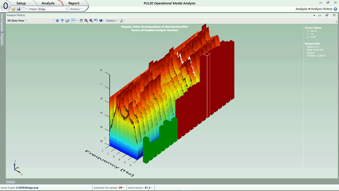 Structural Health Monitoring - 3D data view