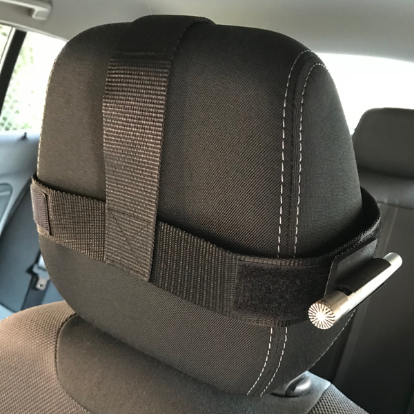 "UA-0692 Universal Headrest Microphone holder, for ½"" and ¼"" microphones"