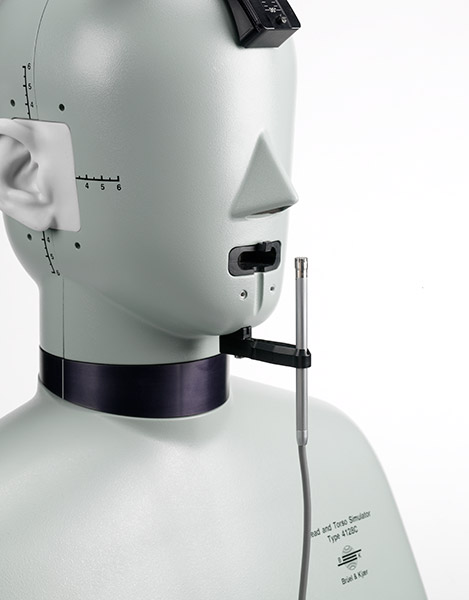 HATS (Head and Torso Simulator) Type 4128-D with microphone
