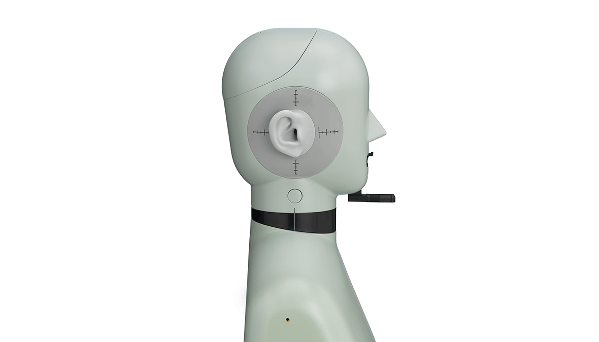 Type 5128-C - High-frequency head and torso simulator - right side view