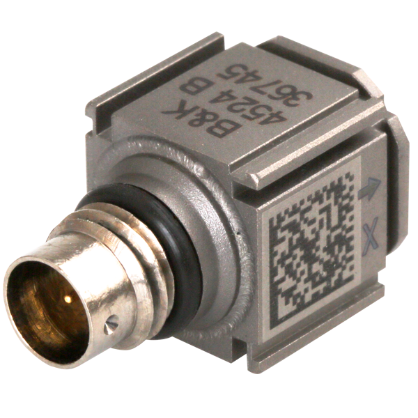 Triaxial CCLD piezoelectric accelerometer, TEDS, TYPE 4524-B