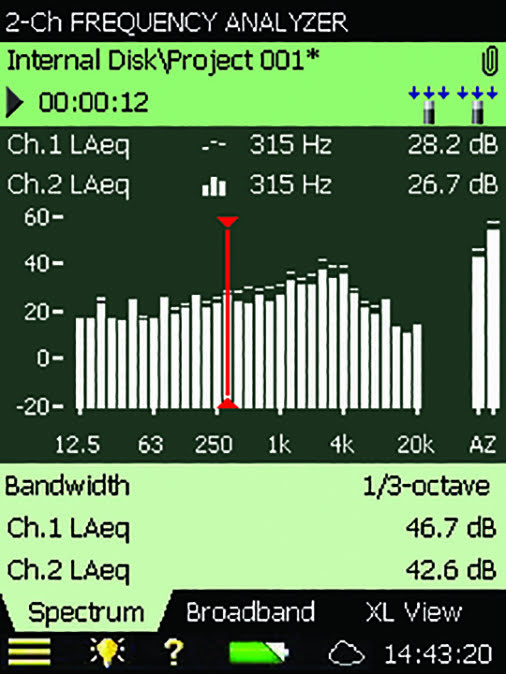 1/3- and 1/1-octave Frequency Analysis Application – Brüel & Kjær