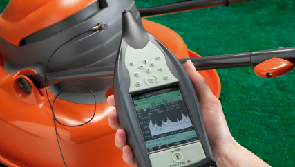 Vibration analysis on lawn mower with Type 2250-W