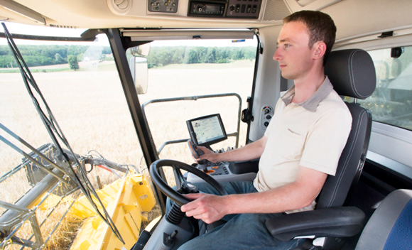 New Holland's Harvest Suite cab leads the market with a 73 dB(A) noise level
