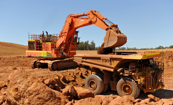 Boddington Bauxite Mine digger and truck