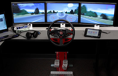 Driving simulation in top gear