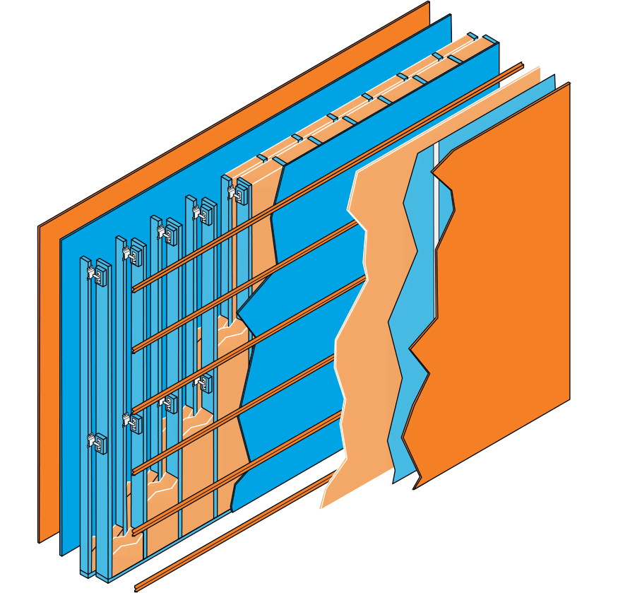 Specification for one of the twelve different wall types