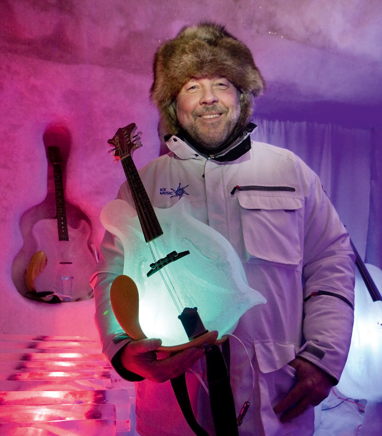Tim Linhart is the founder of Ice Music in Swedish Lapland