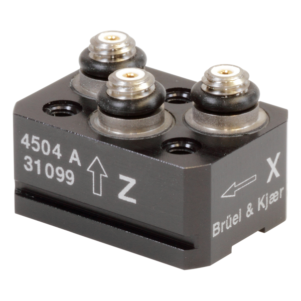 Triaxial piezoelectric IEPE accelerometer - Type 4504-A
