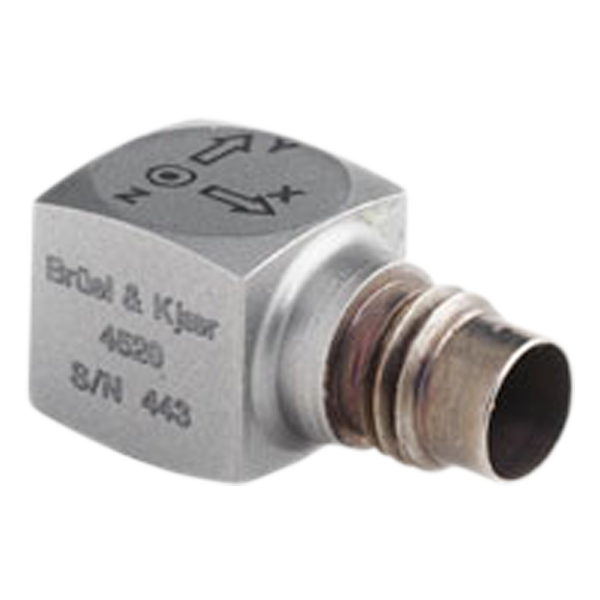 Miniature cubic triaxial IEPE accelerometer - Type 4520