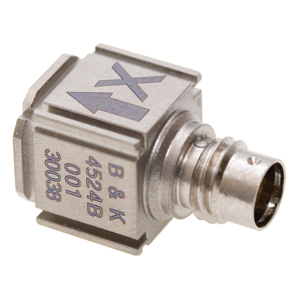 Cubic triaxial CCLD accelerometer Type 4524-B-001