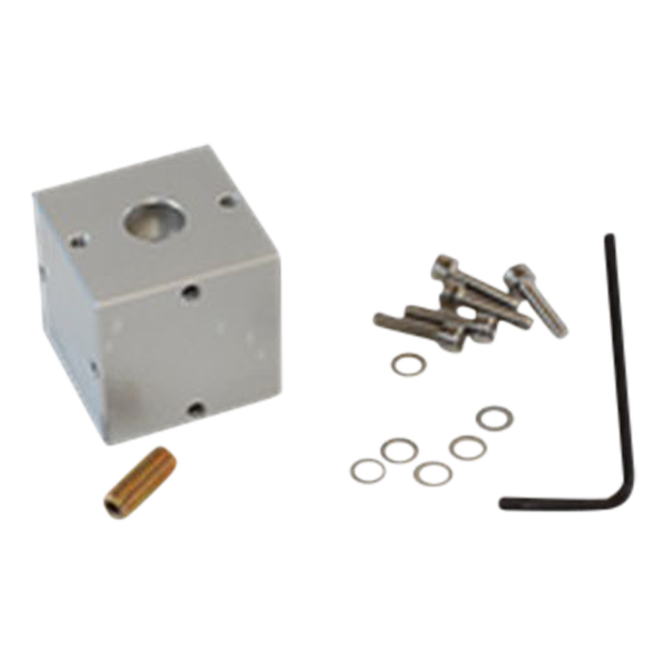 Triaxial mounting block for DC and response accelerometers