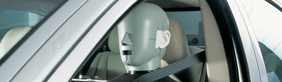 Head and Torso Simulator in car